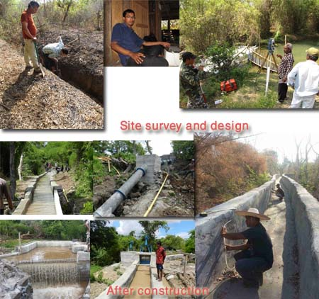 Don Xom Micro hydro at Laos PDR. From design to completion of construction.