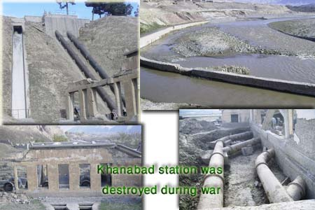 Khanabad power station was destroyed during war. Restoration work was done during design.